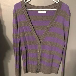 Old Navy Sweaters - Old Navy Purple and Grey cardigan